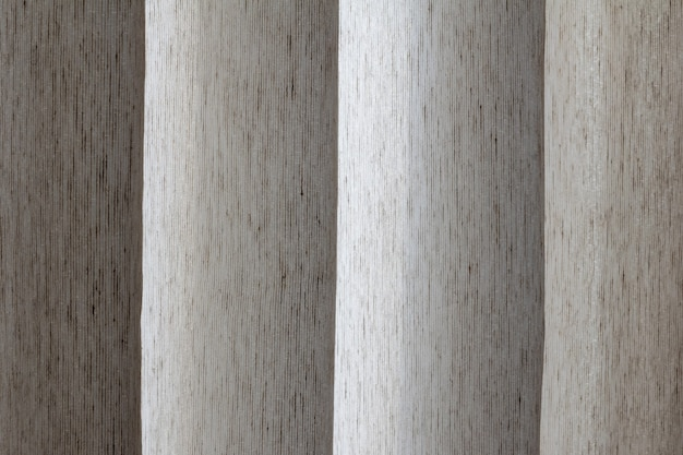 Abstract linen curtain close-up