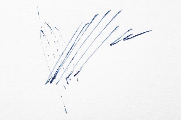 Abstract lines on white paper