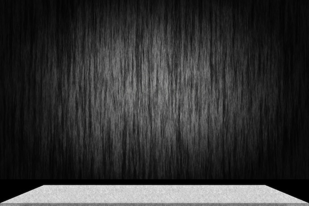 Abstract luxury black gradient with border black vignette background studio backdrop with cement shelf