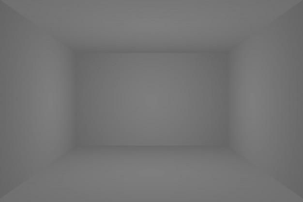 抽象的な高級ぼかし暗い灰色と黒のグラデーション、背景のスタジオの壁