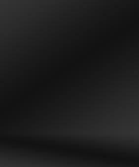 Абстрактное роскошное размытие темно-серого и черного градиента, используемое в качестве фоновой студийной стены для отображения вашей пр ...