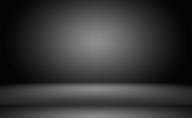 Абстрактное роскошное размытие темно-серого и черного градиента, используемое в качестве студийной стены для демонстрации ваших продуктов.