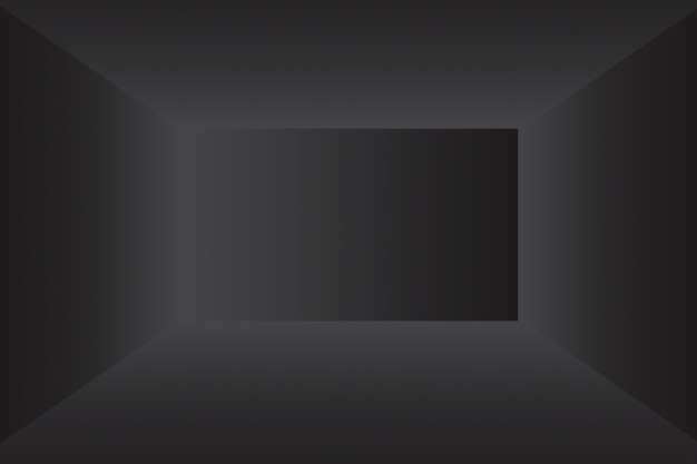 Abstract luxury blur dark grey and black gradient used as background studio wall for display your pr...