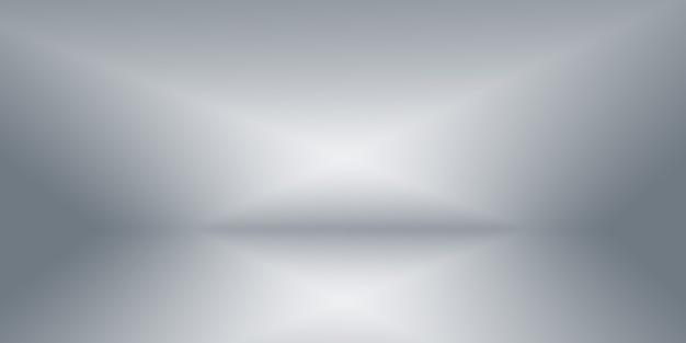 Sfocatura di lusso astratta sfumatura di colore grigio, utilizzata come parete dello studio di sfondo per visualizzare i prodotti.