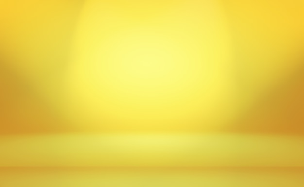 Abstract luxury gold yellow gradient studio wall background