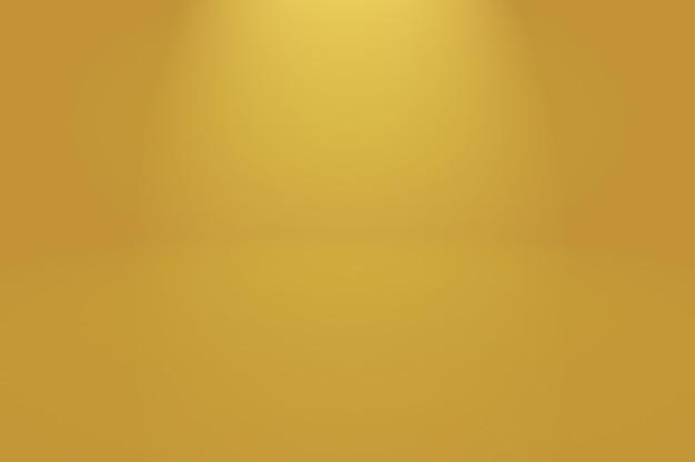 추상 럭셔리 골드 노란색 그라데이션 스튜디오 벽, 배경, 레이아웃, 배너 및 제품 프레젠테이션으로 사용합니다.