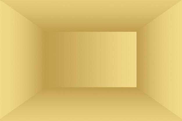 추상 럭셔리 골드 노란색 그라데이션 스튜디오 벽은 배경, 레이아웃, 배너 및 제품 프레젠테이션으로 잘 사용됩니다.