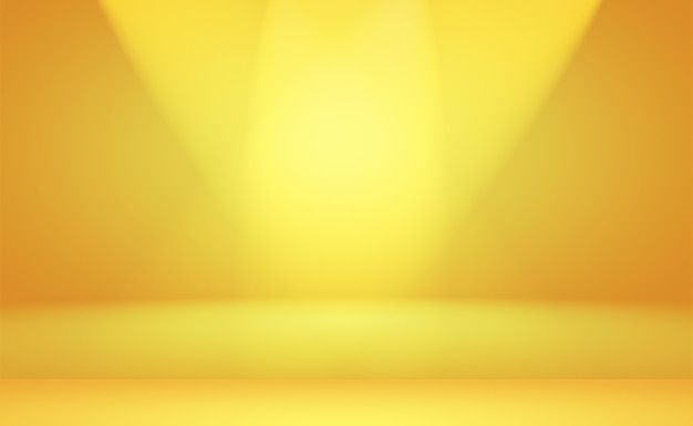 Абстрактная роскошная золотая желтая градиентная студийная стена, хорошо использовать в качестве фона, макета, баннера и презентации продукта.