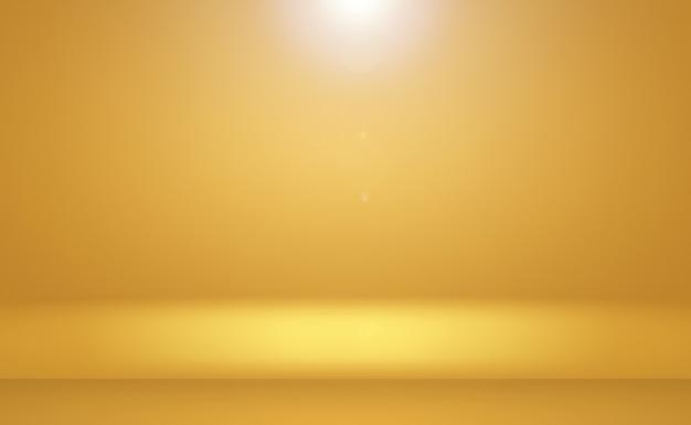 Абстрактная роскошная золотая желтая градиентная студийная стена, хорошо подходит для фона, макета, баннера и презентации продукта.