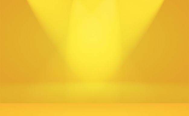 抽象ラグジュアリーゴールドイエローグラデーションスタジオの壁、背景、レイアウト、バナー、製品のプレゼンテーションとしてよく使用されます。