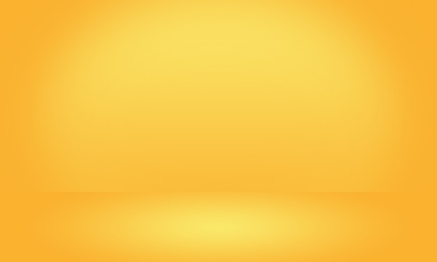 Abstract luxury gold yellow gradient studio wall, well use as background