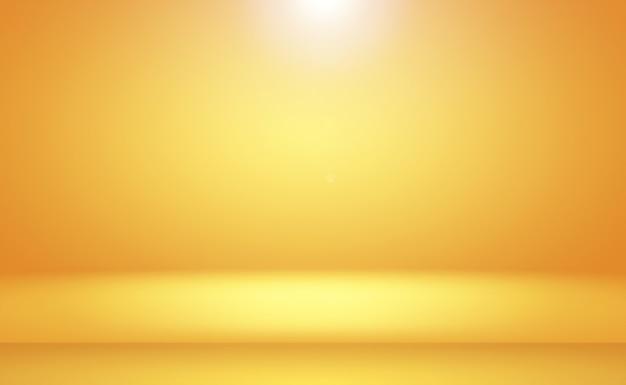 추상 럭셔리 골드 옐로우 그라데이션 스튜디오 벽은 배경 레이아웃 배너 및 제품 프레스로 잘 사용됩니다.