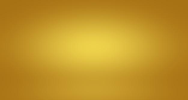 抽象的な豪華なゴールドイエローのグラデーションスタジオの壁は、backgroundlayoutbannerや製品のプレとしてよく使用されます...