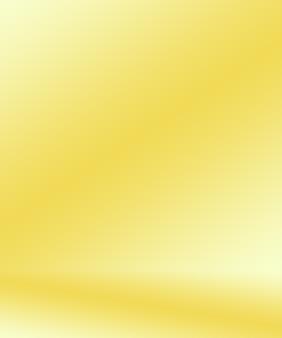 抽象的で豪華なゴールドイエローのグラデーションスタジオの壁は、backgroundlayoutbannerや製品のプレとしてよく使用されます...