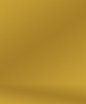 추상 럭셔리 골드 옐로우 그라데이션 스튜디오 벽은 배경 레이아웃 배너 및 제품 프리젠테이션으로 잘 사용됩니다.