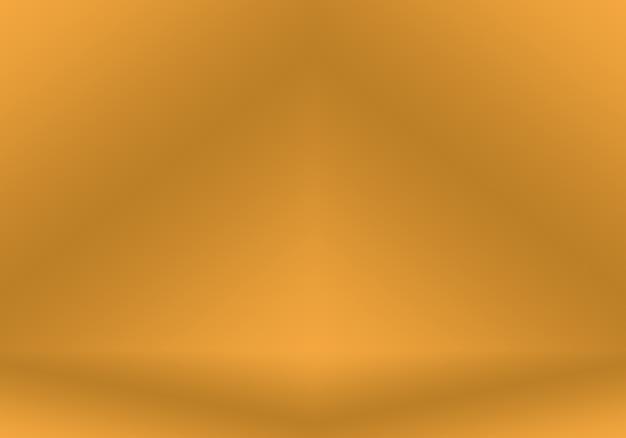 Абстрактная роскошная золотая желтая градиентная студийная стена хорошо подходит для использования в качестве фона и баннера ...