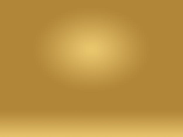 Абстрактная роскошная золотая желтая градиентная студийная стена
