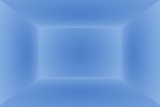 抽象的な豪華なグラデーションの青い背景。ブラックビネットスタジオバナー付きの滑らかなダークブルー。 3dスタジオルーム。