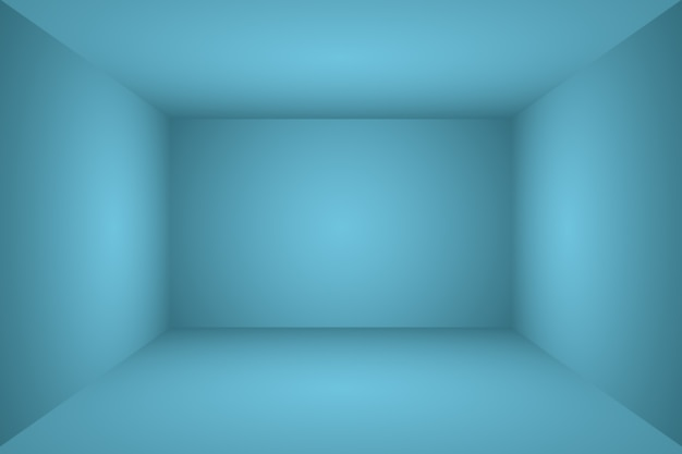 추상 럭셔리 그라데이션 파란색 배경입니다. 블랙 비네트 스튜디오 배너가 있는 부드러운 다크 블루. 3d 스튜디오 룸.