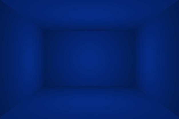 Абстрактный роскошный градиент синий фон. гладкий темно-синий с черной виньеткой studio banner. 3d studio room.