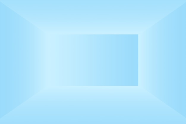 黒のビネットスタジオバナーと抽象的な豪華なグラデーションの青い背景滑らかな濃い青