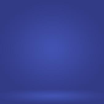 抽象的な豪華なグラデーションの青い背景。ブラックビネットスタジオバナー付きの滑らかなダークブルー。
