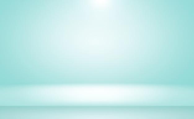 抽象的な贅沢なグラデーション青い背景。ブラックビネットスタジオバナー付きの滑らかなダークブルー。