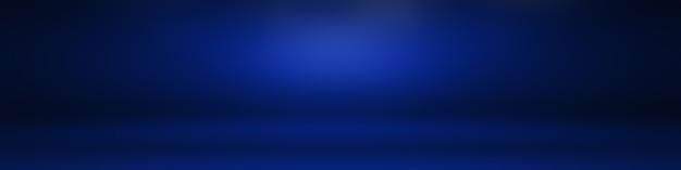 Sfondo blu sfumato di lusso astratto blu scuro liscio con banner studio vignetta nera