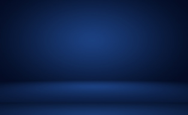 Abstract luxury gradient blue background smooth dark blue with black vignette