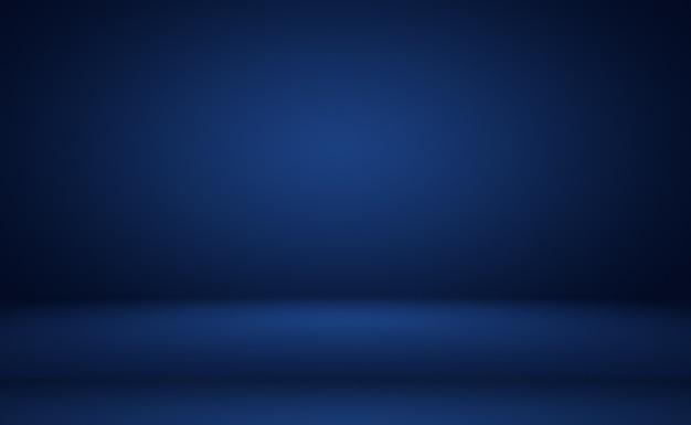 抽象的な豪華なグラデーションの青い背景。黒のビネットで滑らかなダークブルー。