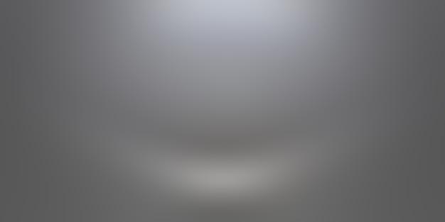 Абстрактное роскошное простое размытие серого и черного градиента, используемое в качестве фоновой студийной стены для демонстрации ваших продуктов.
