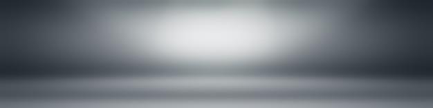 제품을 표시하기 위한 배경 스튜디오 벽으로 사용되는 추상 럭셔리 일반 흐림 회색 및 검정 그라디언트.