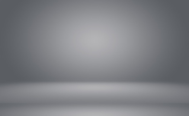 Abstract luxury plain blur grey and black gradient used as background studio wall for display your p...