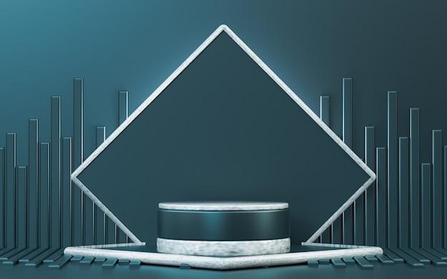 製品プレゼンテーション用の抽象的な豪華な表彰台ディスプレイ