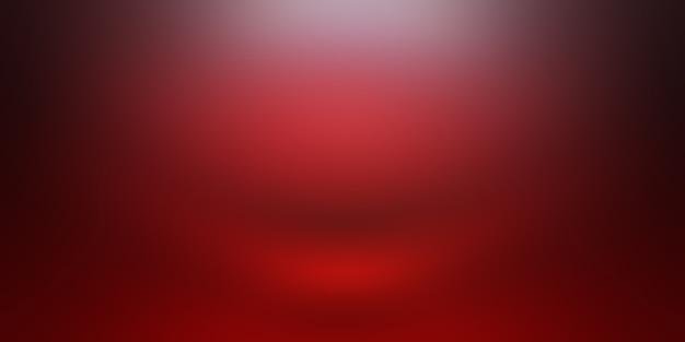 抽象的な贅沢な柔らかい赤い背景クリスマスバレンタインレイアウトデザイン、スタジオ、部屋、ウェブテンプレート、滑らかな円のグラデーションカラーのビジネスレポート。
