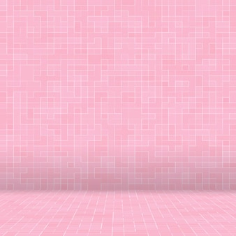抽象的な贅沢な甘いパステルピンクのトーンの壁の床タイルガラスシームレスパターンモザイク