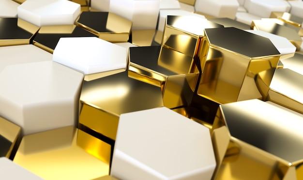 金色の六角形の抽象的な贅沢。