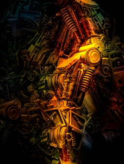 Abstract machine background for technology and industry concept