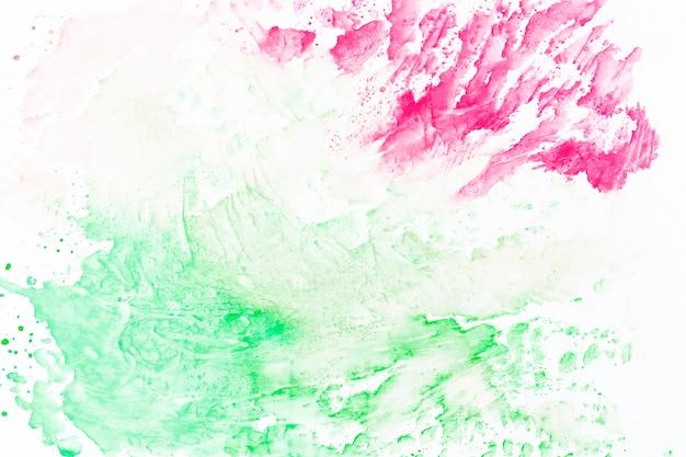 抽象的なマゼンタと緑のはね