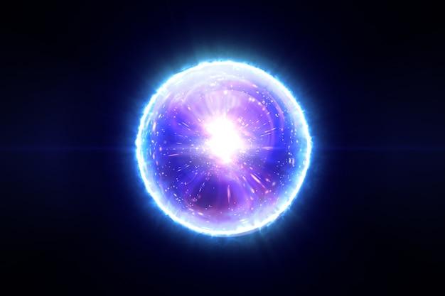 化合物の3 dイラストレーションの分子と抽象的な魔法の球