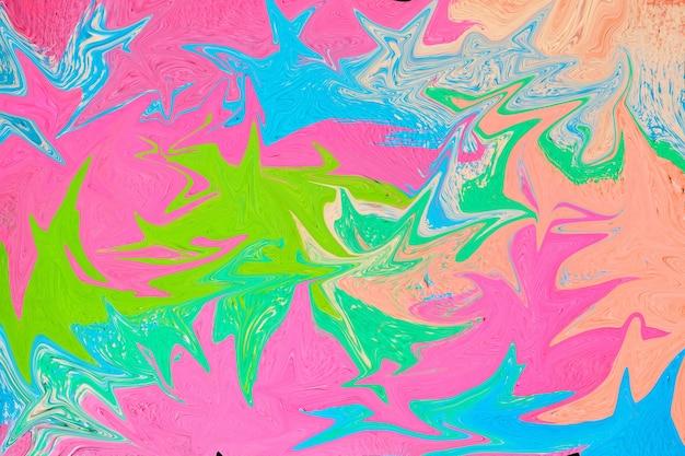 Абстрактный мраморный фон в разноцветной текстуре крупным планом