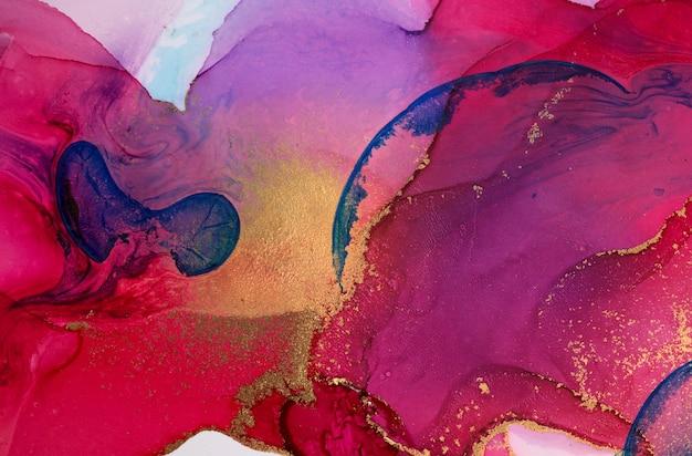 Абстрактный мраморный розовый и фиолетовый фон произведения искусства