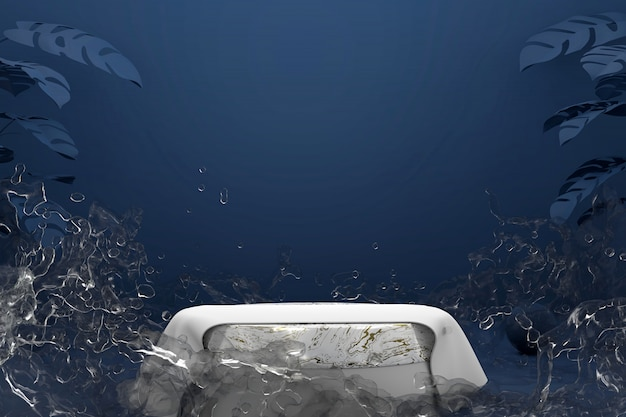 스플래시 물 추상 대리석 플랫폼 연단