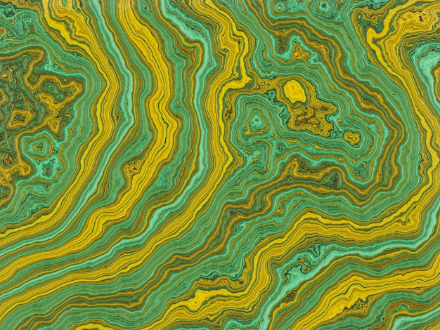 Abstract marbled green and yellow background