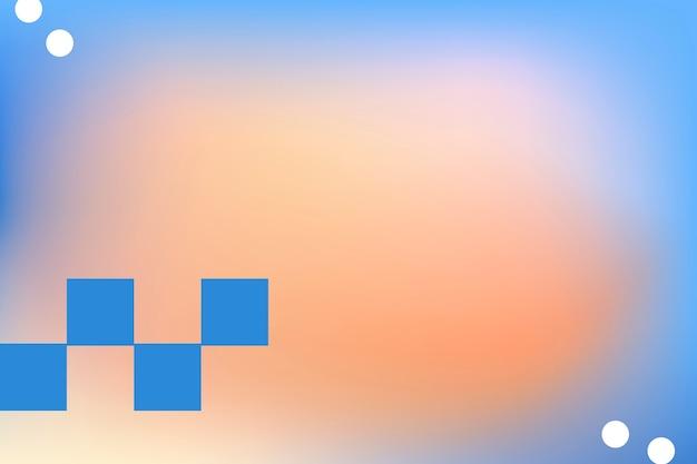 Абстрактный мемфис оранжевый фон градиент с геометрическими фигурами