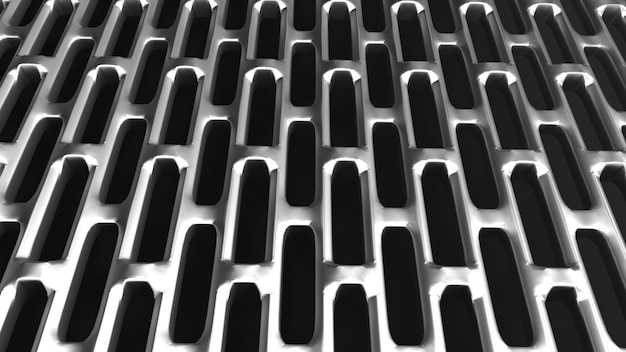 Abstract metal grille background