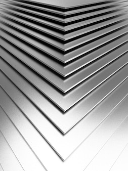 The abstract metal pattern. 3d illustration.