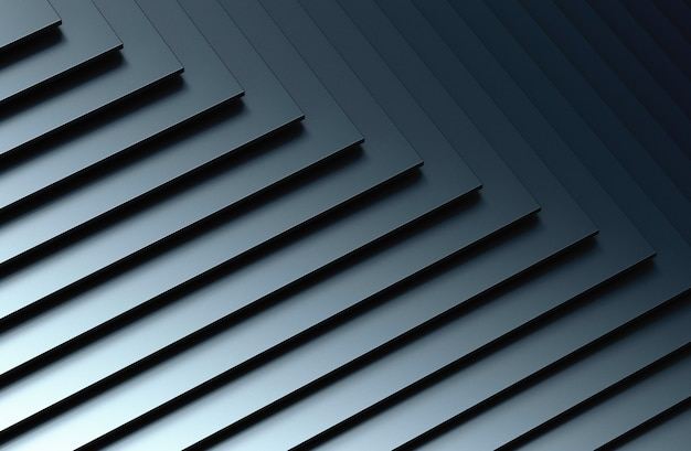 The abstract metal pattern background. 3d illustration.