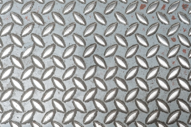 Abstract metal texture, aluminum plate pattern style of steel floor for background.