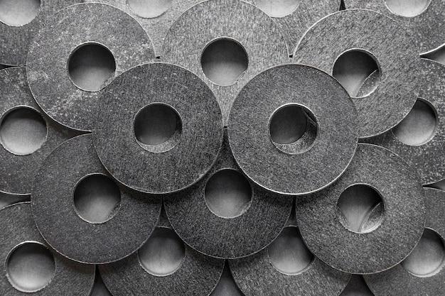 抽象的な金属の背景のクローズアップ